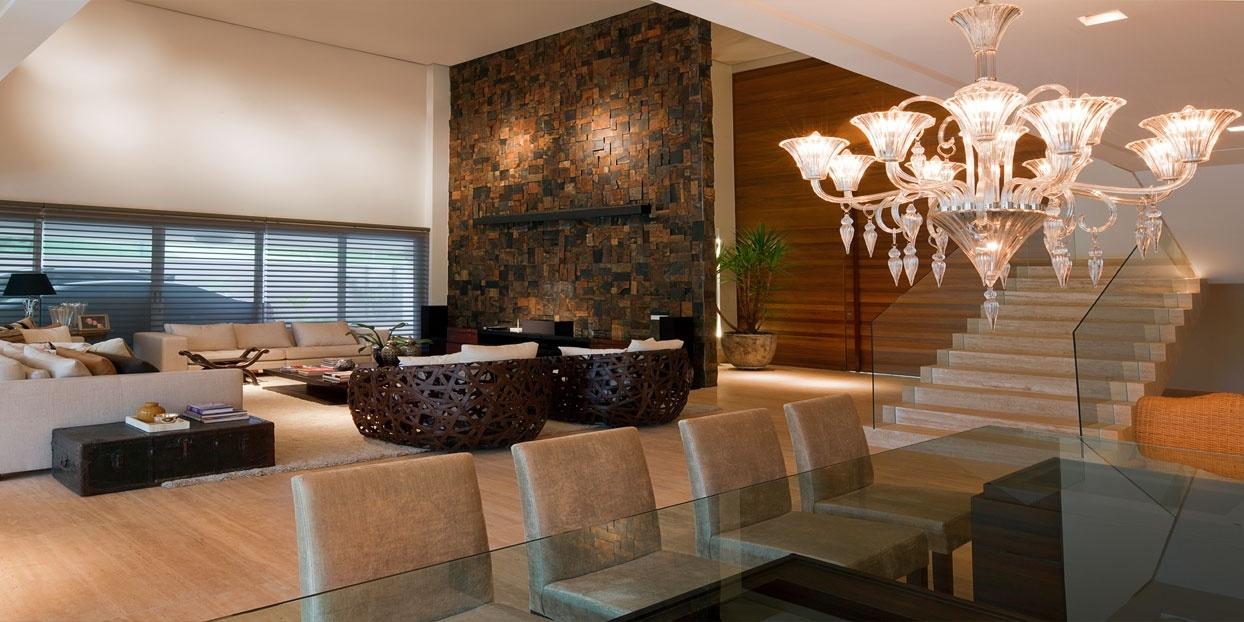 Suficiente Sala de estar revestida com Pedra Ferro: Revestimento rústico para  EY13